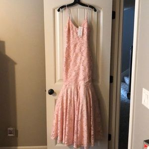 ASOS (Club L London) Size 4 Tall Blush Pink Dress